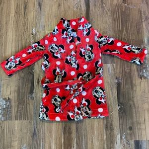 Minnie Mouse Robe - EUC 2/3T